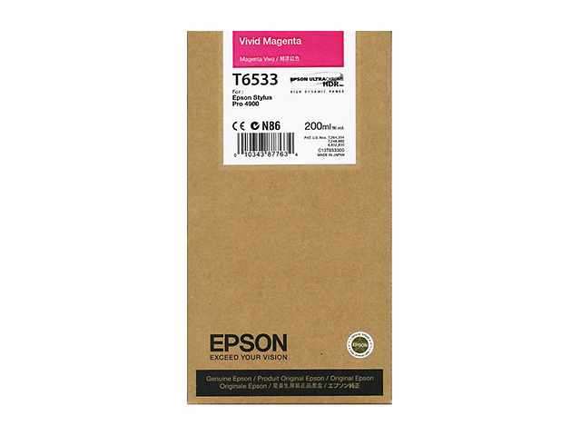 Epson T653300 Cartucho UltraChrome 200ml HDR Magenta Vivo
