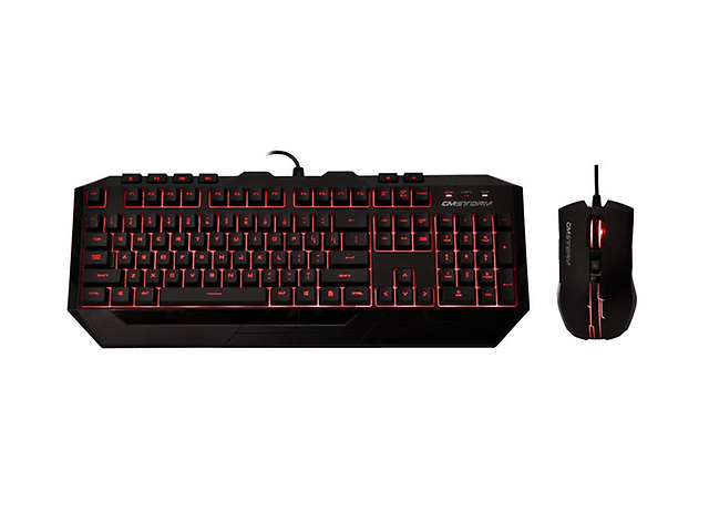 COOLER MASTER SGB-3011-KKMF1-SP, Devastator Gaming USB Teclado y Mouse, LED Roja
