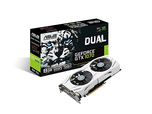 ASUS DUAL-GTX1070-8G Tarjeta de Video NVIDIA GEFORCE GTX 1070