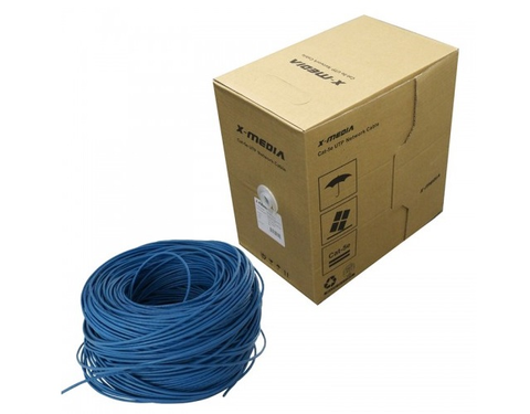 X Media Ca Tp6 E1 K Bu Bobina Utp Cat 6 305 Mts Color Azul