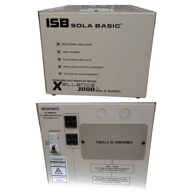 Isb Sola Basic Xl-13-230 Xcellence 3000 Regulador 3000 Va