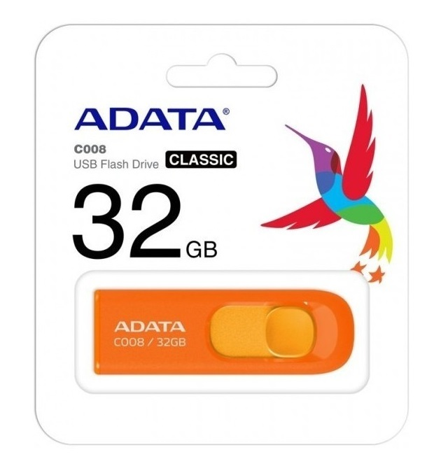 Memoria Usb Flash Adata C008 32 Gb 2.0 Color Naranja - ordena-com.myshopify.com