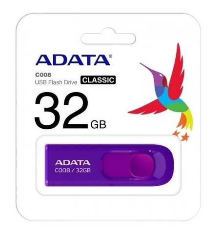Memoria Usb Flash Adata C008 32 Gb 2.0 Color Morado - ordena-com.myshopify.com