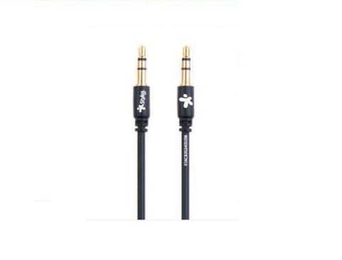 Stylos Stacb352405018 Cable Auxiliar 3.5 Mm 1mt Negro - ordena-com
