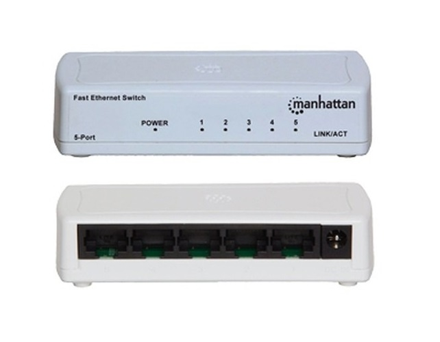 Manhattan 560672 Switch Ethernet 5 Ptos Mh Color Blanco - ordena-com