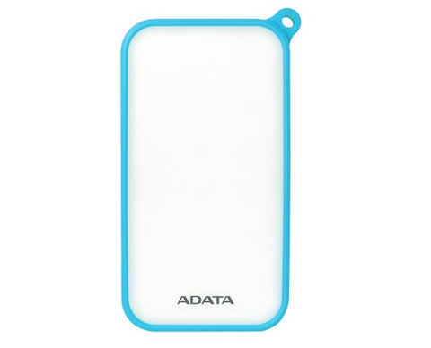 Adata D8000 L Cargador Power Bank 8000 Mah Blanco Goma Azul Led