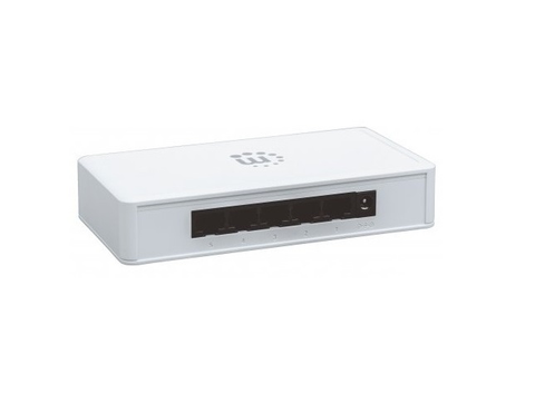 Manhattan 560696 Switch Gb 5 Puertos Desktop Color Blanco