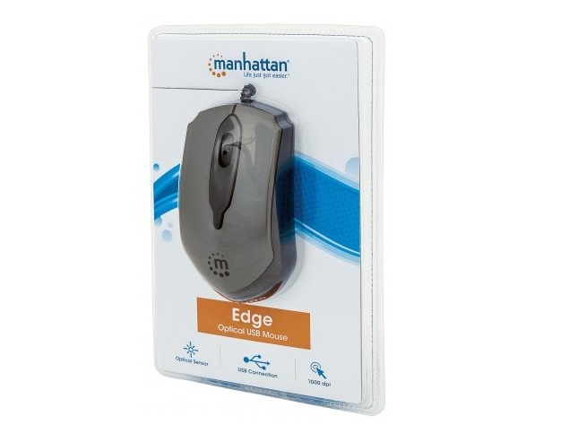 Manhattan 179423 Mouse Optico Edge Usb Gris/Negro - ordena-com.myshopify.com