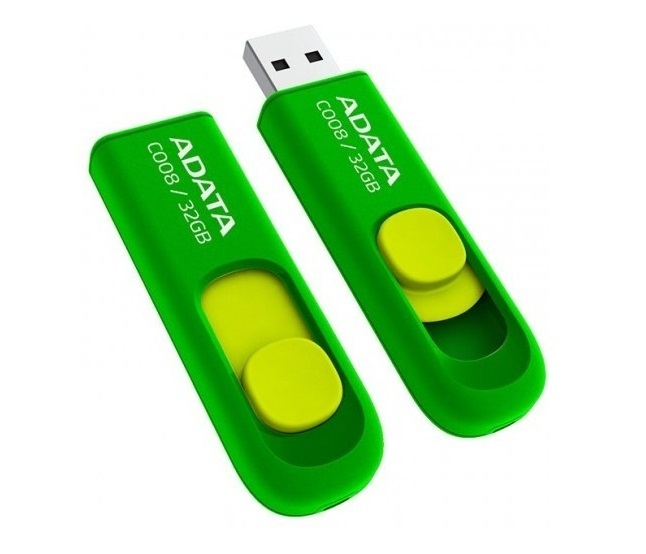Memoria Usb Flash Adata C008 32 Gb 2.0 Color Verde - ordena-com.myshopify.com