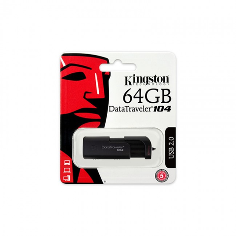 Kingston Dt104/64 Gb Memoria 64 Gb Usb 2.0, Negro - ordena-com