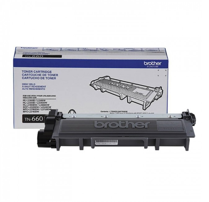Brother Tn660 Toner Para Hll2360 Dw, 2600 Páginas, Negro