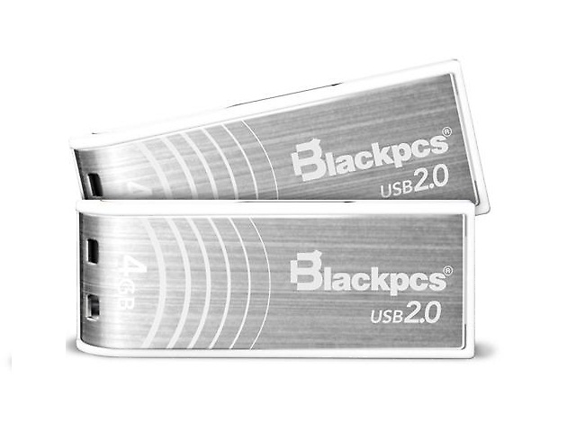 BlackPCS MU2103S Memoria Flash USB 2.0 64GB Plata Aluminio Plastico