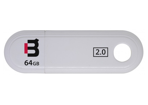 BLACKPCS MU2109W-64 Memoria Flash USB 64 GB plastico, Blanco