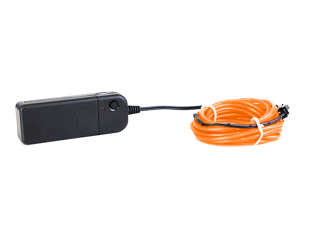 El Wire cable electroluminiscente 3mm x 3 mts. Naranja