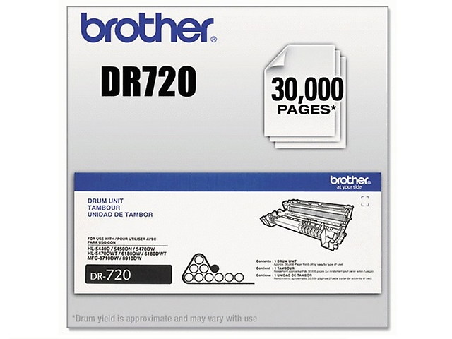 Brother DR720 Tambor 30,000 PAGINAS P/8150/6180/5450/8950/8910