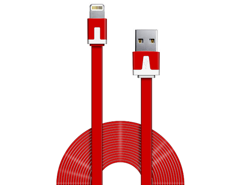 Ginga Cable Usb Carga Y Datos Iphone 5 Rojo - ordena-com.myshopify.com