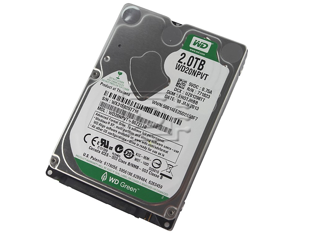 Western Digital Wd20 Npvt Intellipower Green Disco Duro 2 Tb Sata3 2.5plg 8 Mb