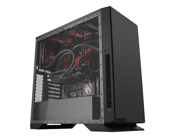 EAGLE WARRIOR Robotz Gabinete Gamer con Panel Acrilico, 2xUSB3.0, Audio HD