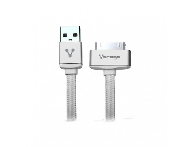 VORAGO CAB-118 Cable USB-APPLE DOCK, 1 Metro, en Bolsa, Blanco