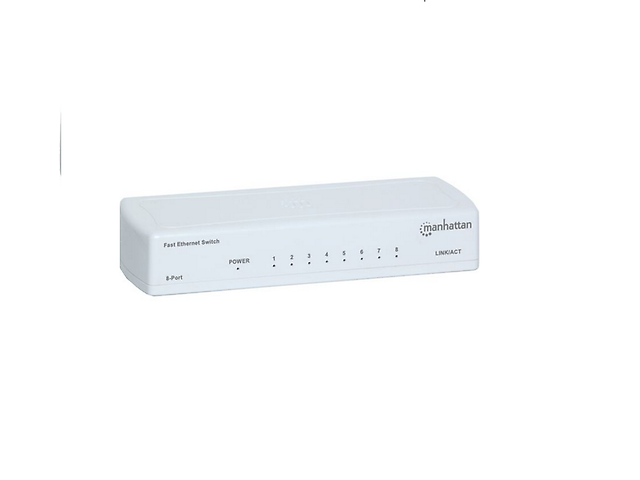 MANHATTAN 560689 SWITCH 8 PTOS FAST ETHERNET 10/100 MBPS P/ESCRITORIO