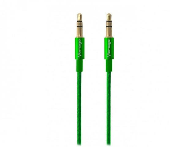 Vorago Cab 108 Cable De Audio 3.5 Mm Redondo Metalico Verde