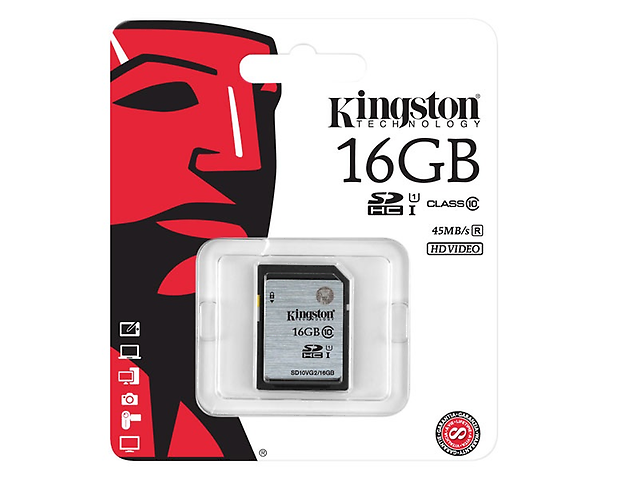 Kingston SD10VG2 Memoria SDHC/SDXC Clase 10, 16GB