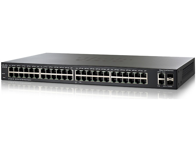 CISCO SF200-48 Switch de 48 Puertos 10/100 mas 2 Puertos GBIC, Smart
