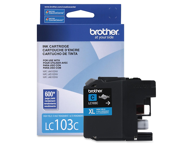 BROTHER LC103C Cartucho P/MFCJ870DW / MFCJ285DW Cian