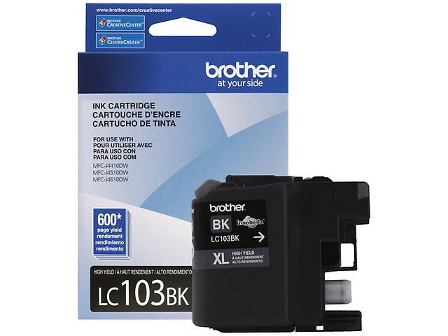 BROTHER LC103BK Cartucho 600 paginas Negro