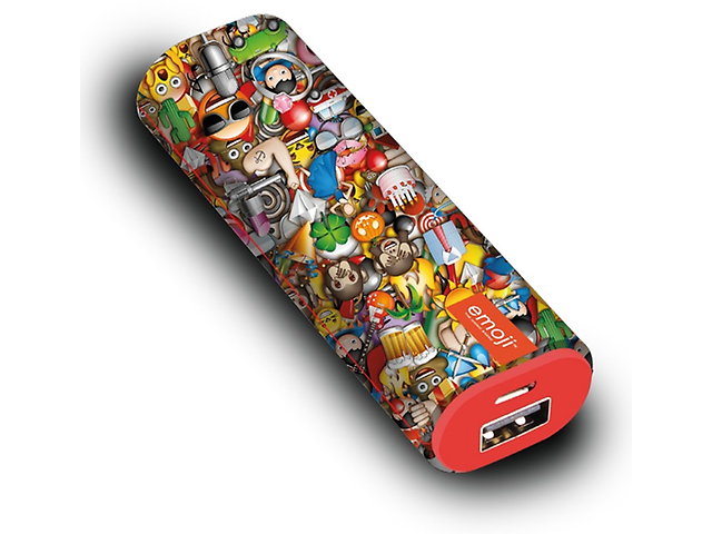 Acteck EM-01001 Power Bank 2200MAH 1 Puerto USB Coleccion Emoji