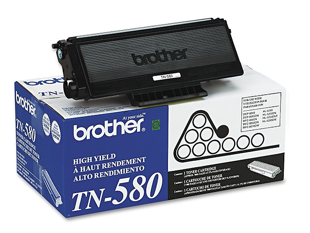 BROTHER TN580 Toner LaserJet 7,000 paginas Negro