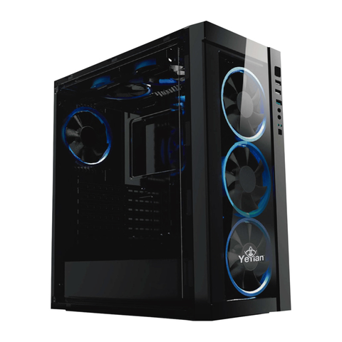 Yeyian Blade 2100 Gabinete Gaming 2 Hdd 4 Sdd, Negro Transpartente Con Led