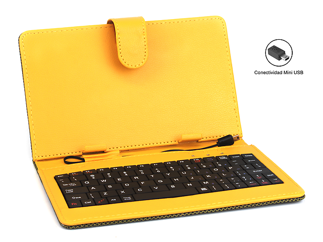 EQUAL Funda para Tablet Quantum Amarillo