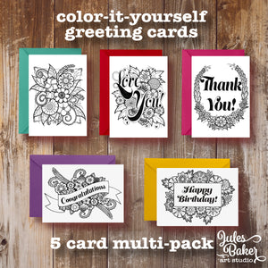 5 card set coloring greeting cards 5 card multi pack 5x7 a7 color 5 card set coloring greeting cards 5 card multi pack 5x7 a7 m4hsunfo