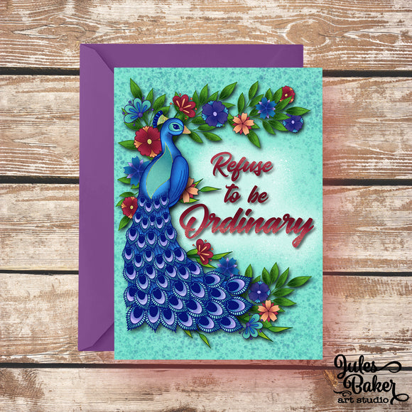 Any occasion inspirational card refuse to be ordinary greeting any occasion inspirational card refuse to be ordinary greeting card 5x7 a7 m4hsunfo