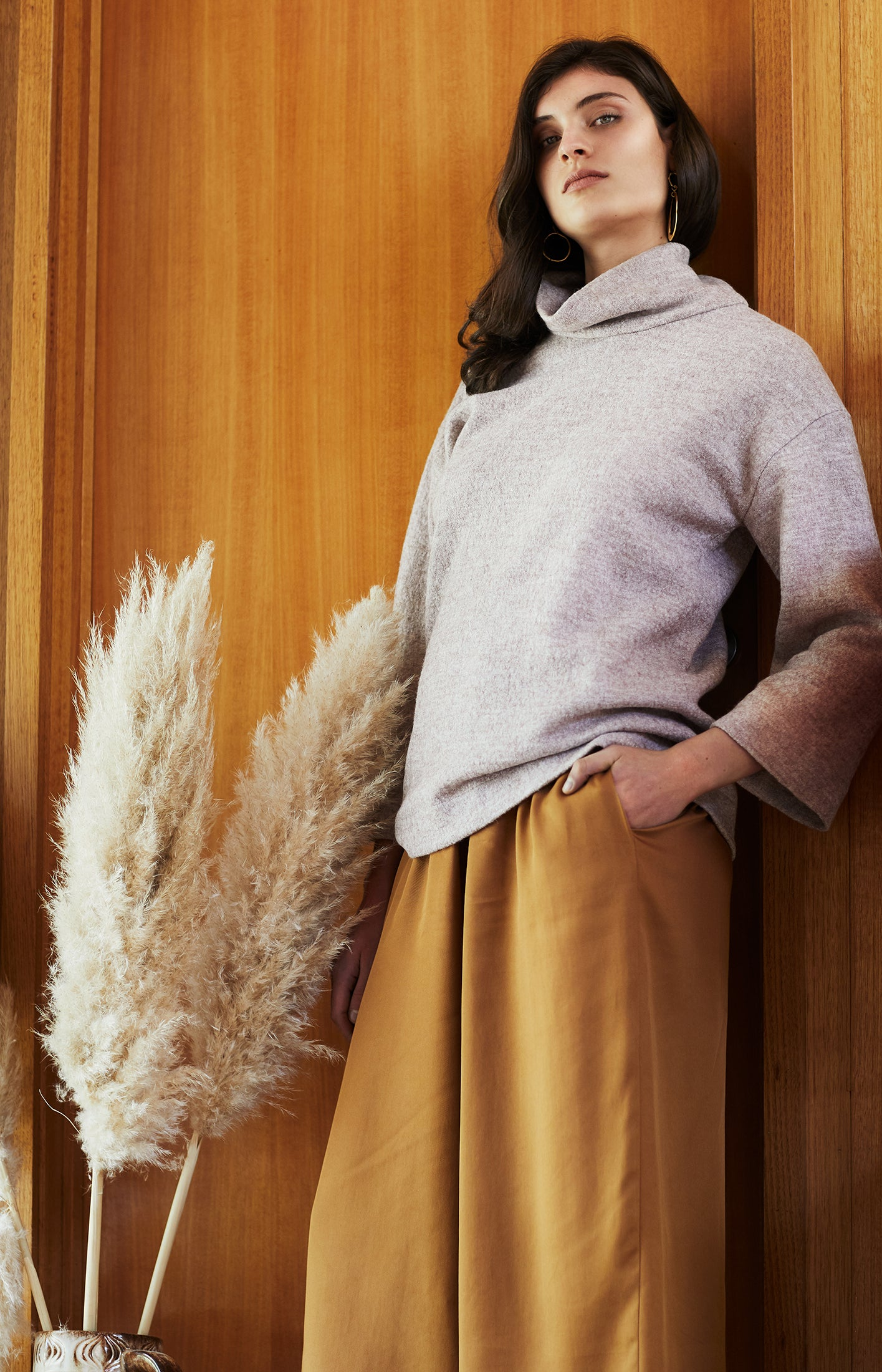 keegan AW19 Woodland Campaign Ethical Fashion Made in Melbourne Australia Cream Wool Jumper