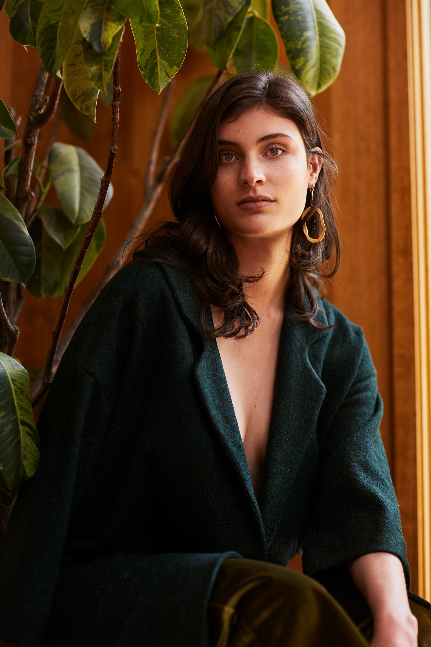 keegan AW19 Woodland Campaign Ethical Fashion Made in Melbourne Australia Green Wool Jacket
