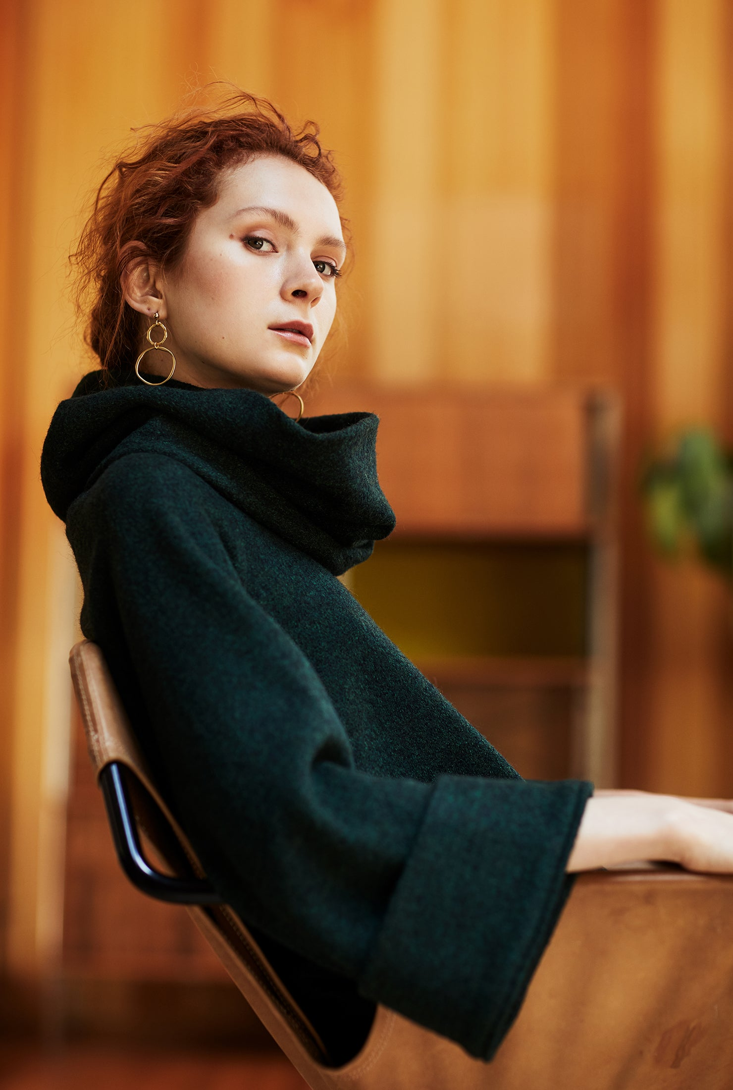 keegan AW19 Woodland Campaign Ethical Fashion Made in Melbourne Australia Green Wool Jumper