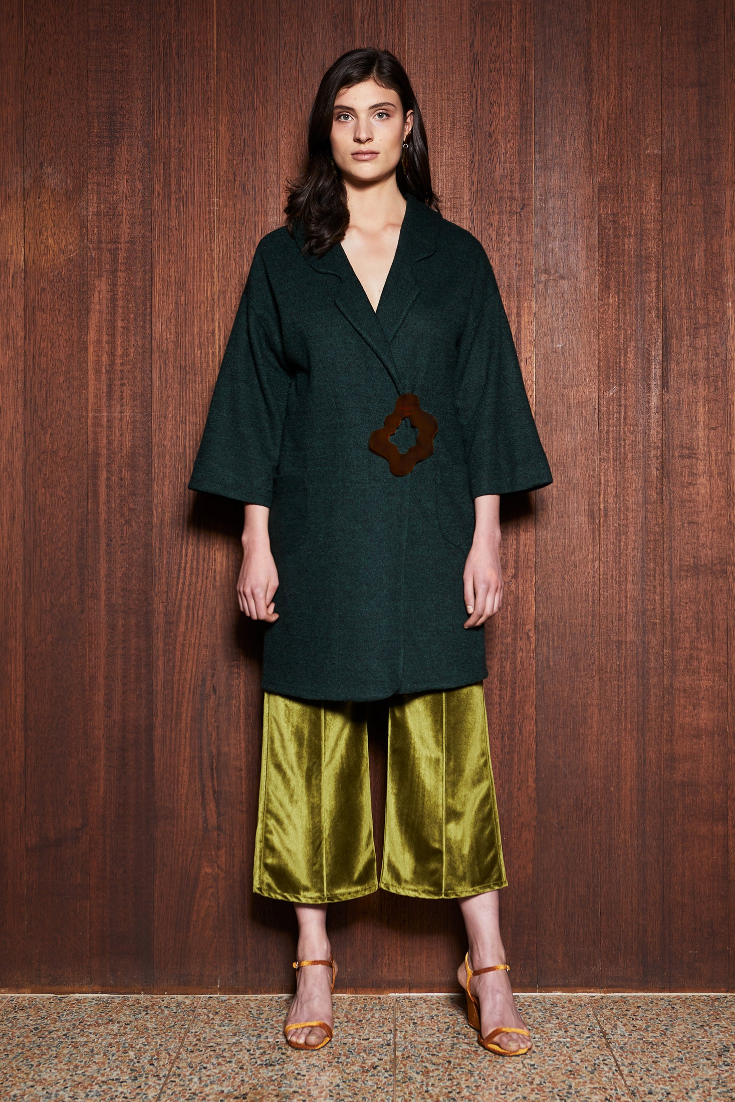 Women's Clothing in Melbourne Australia Woodland Coat Green Wool
