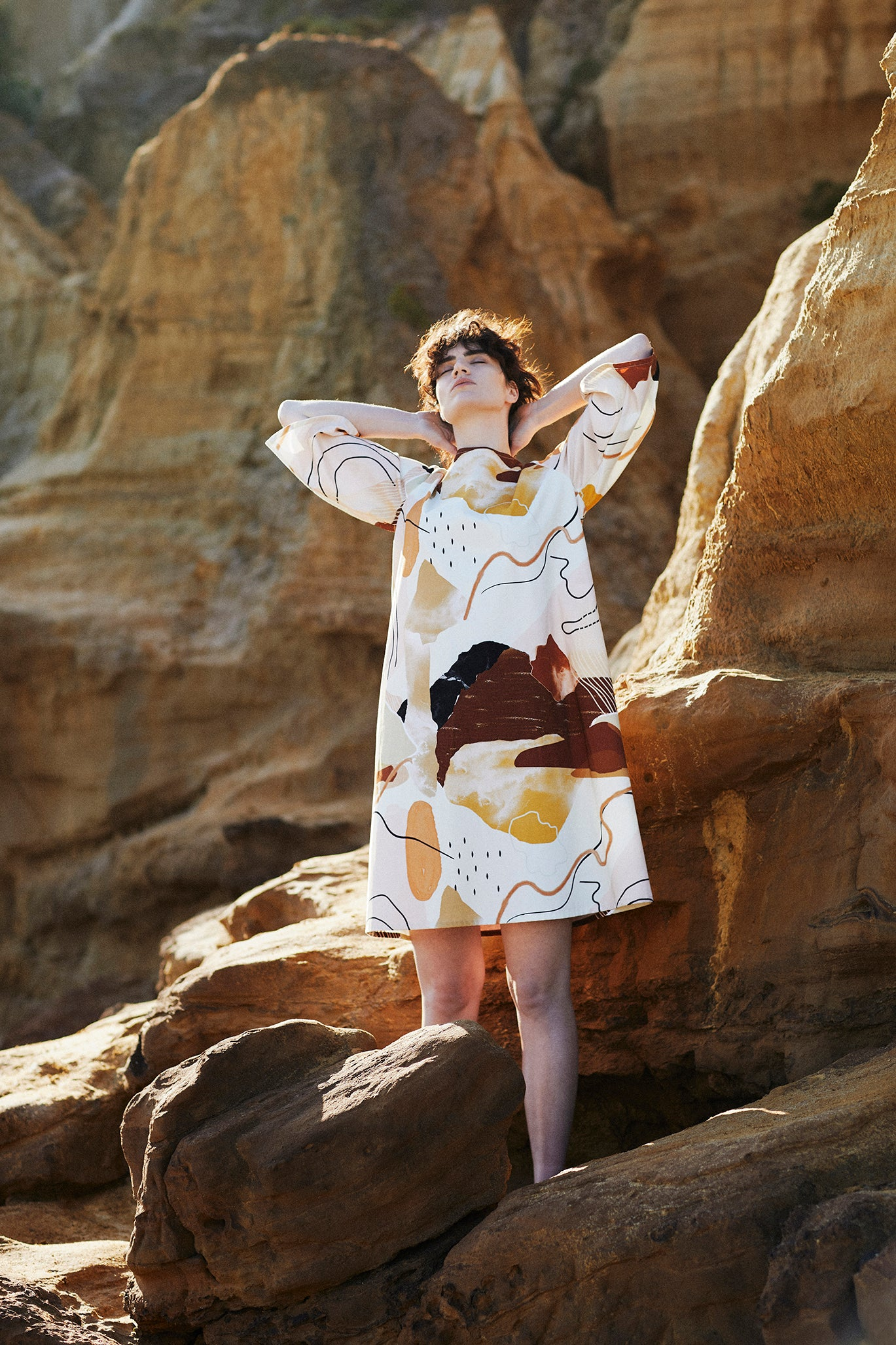 Keegan Desert Print Pinafore Dress Signature Clothing Collection