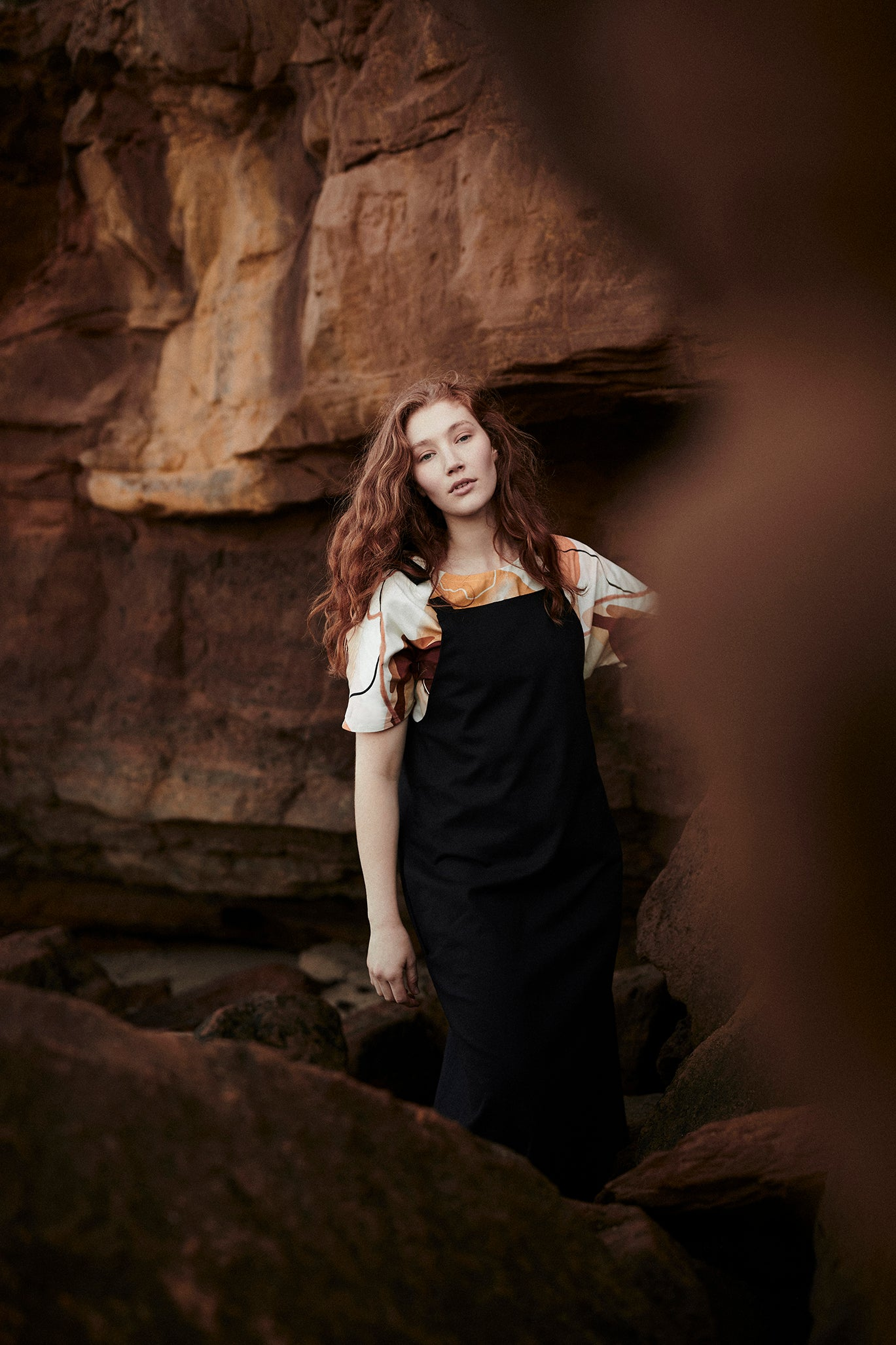 Keegan Black Linen Pinafore Dress Signature Clothing Collection