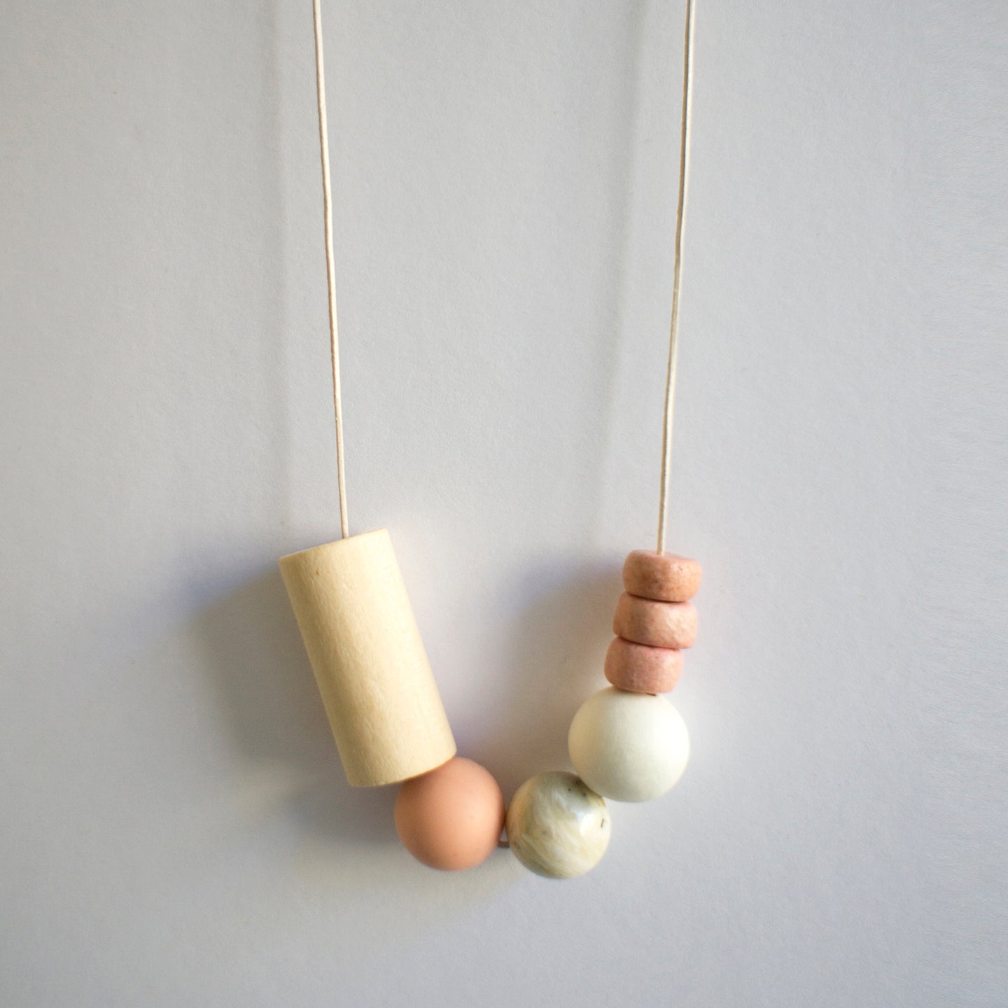ZERO WASTE NECKLACE 0.2 [ PINK CLAY ]