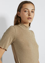 RIBBED MOCK NECK TEE [ METAL ]