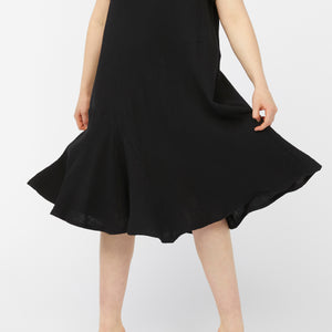 REFRACTION DRESS [ BLACK CRINKLE ]