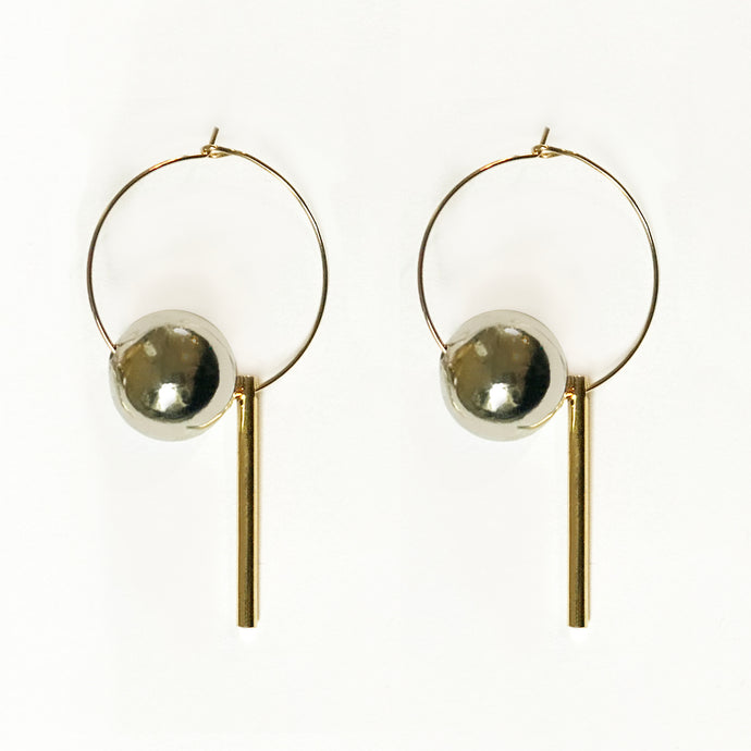 MIXED METAL HOOPS [ GOLD ]