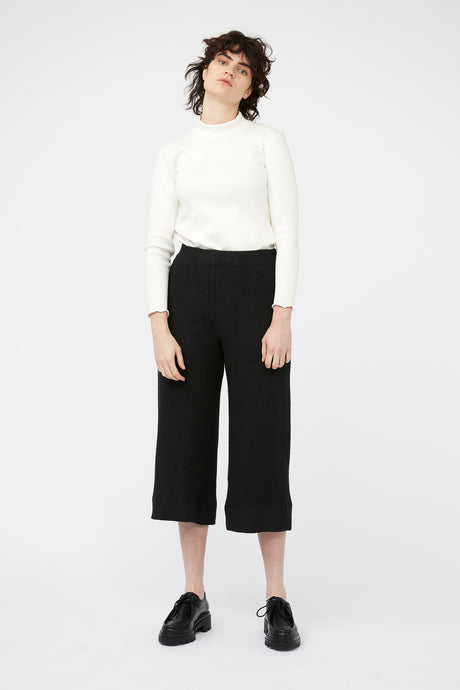 MOSAIC PANTS [ BLACK WOOL BLEND ]