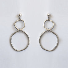 PUDDLE EARRINGS [ SILVER PLATED ]