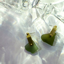 REFRACTION EARRINGS [ SEA GREEN  ]