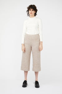 TRAVERTINE PANTS [ BEIGE WOOL BLEND ]