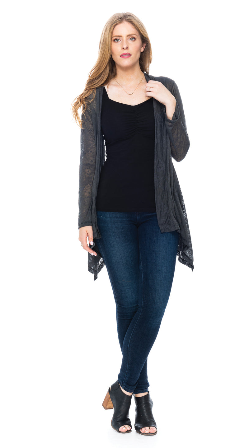 Burnout Iris Jacket - smoky grey